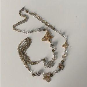 (4 for $25) Long Embellished Statement Necklace